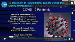 Treatment of Painful Spinal Tumors During the COVID-19 Pandemic